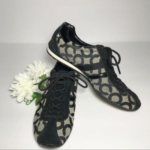 """Coach """"Kathleen """" Sneaker in Black and White"""